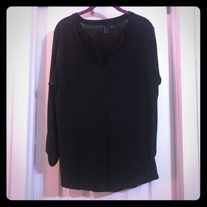 Cynthia Rowley long sleeve Black Top